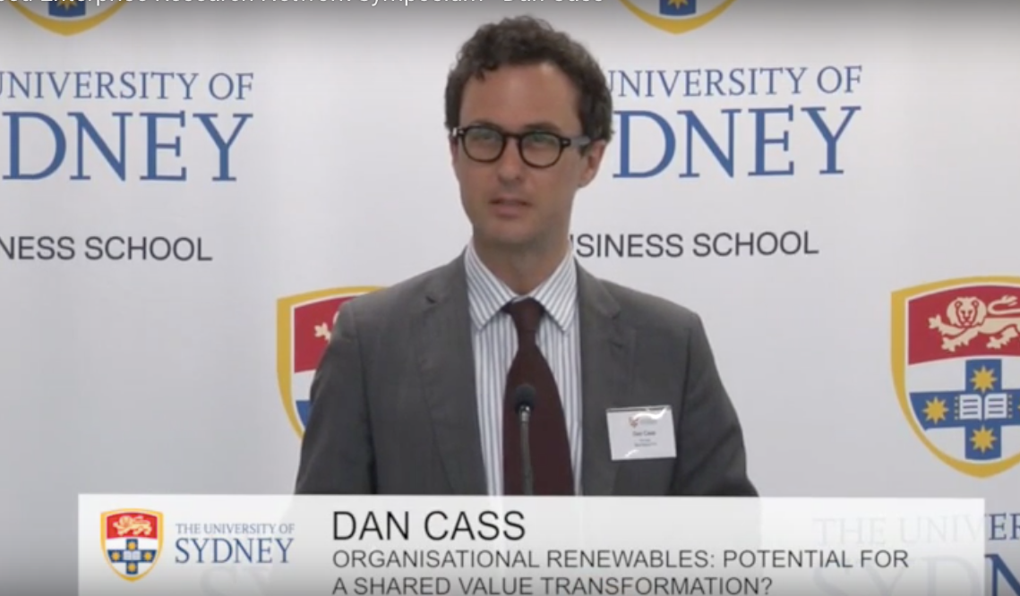 Dan Cass Sydney University renewables seminar 2014