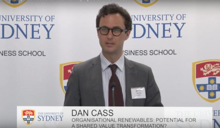 Dan Cass Sydney University renewables seminar 2014